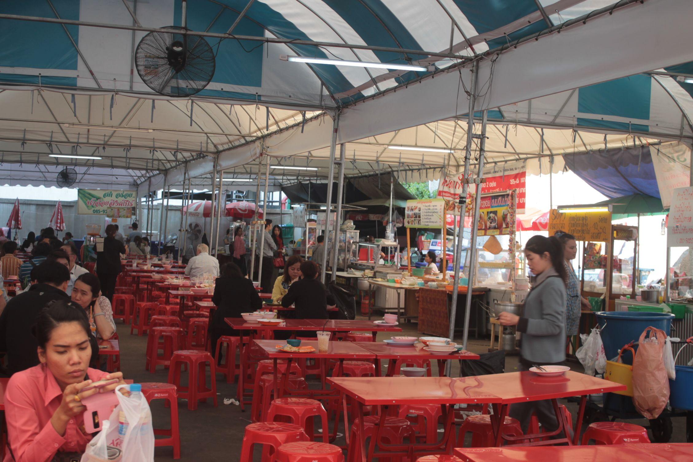 Mercado de comida en Bangkok