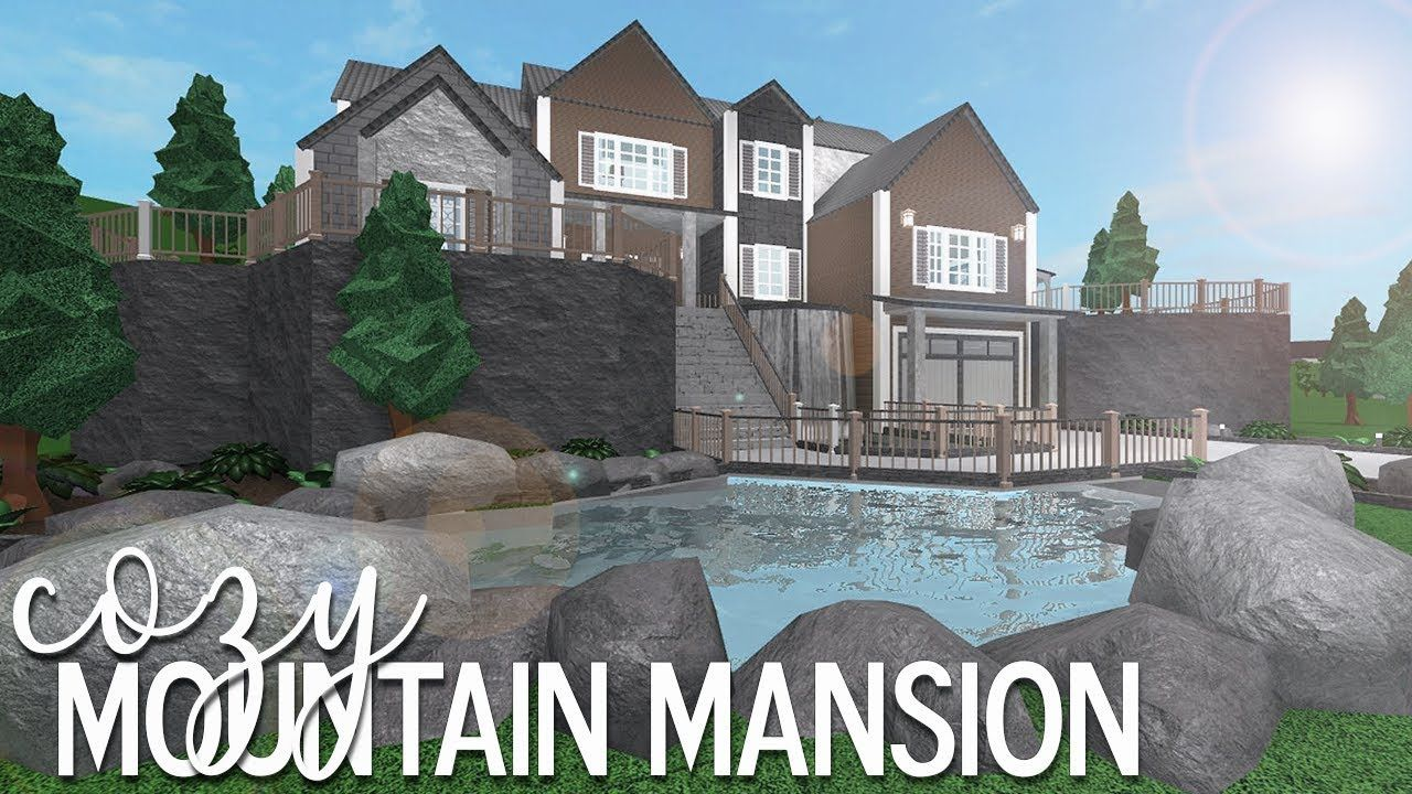 Roblox Bloxburg Cozy Mountain Mansion 105k Youtube Mansions