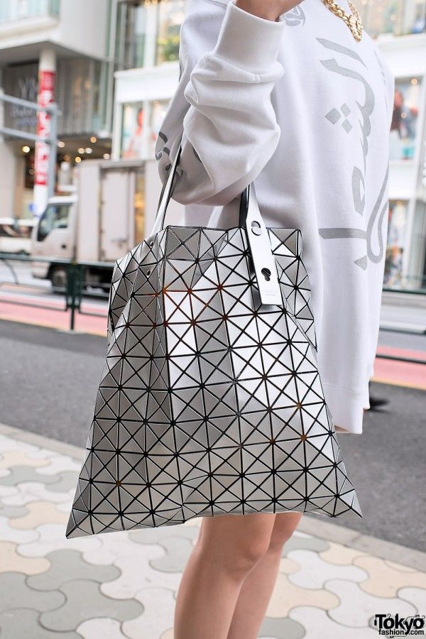 Just picked one up in Japan - Issey Miyake Bao Bao Bag in Silver ... 619c6d8b6cab7