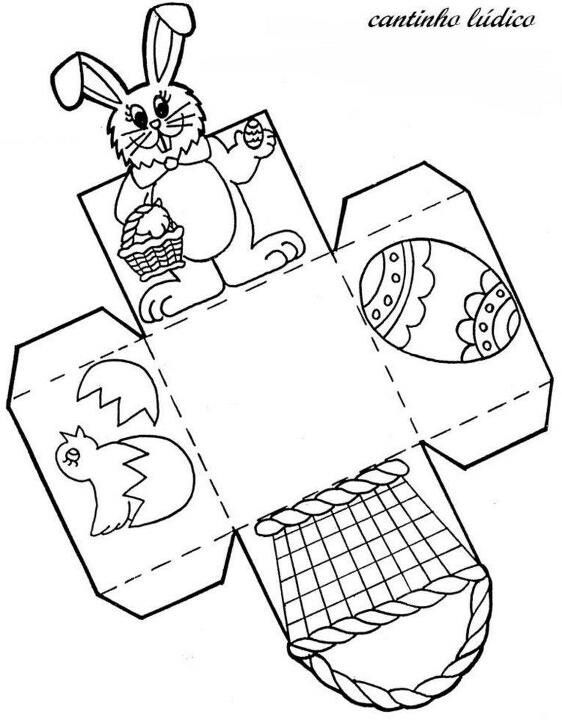 Osterkörbchen Basteln Vorlage cajita conejo easter conejo cajas y conejo