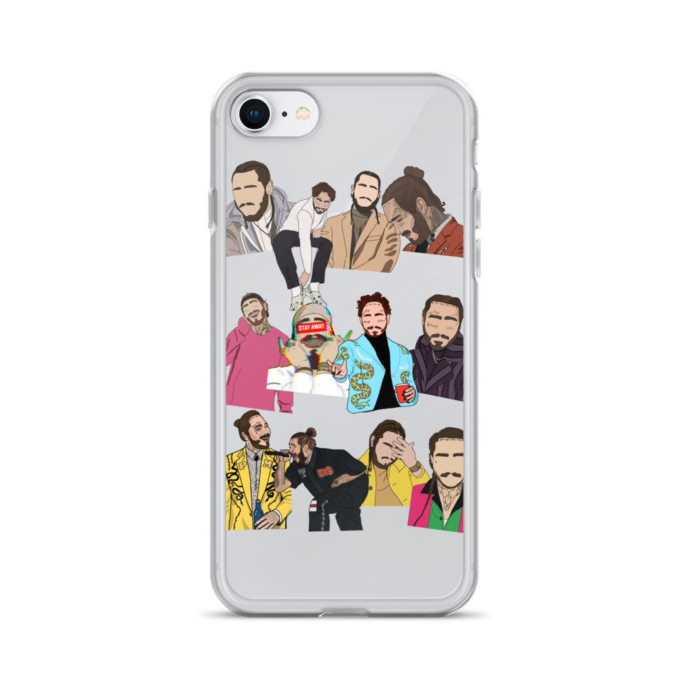 on sale 821ef 70734 Post Malone Clear Phone Case For iPhone 6 6S 7 8 Plus X 10 XR XS Max ...