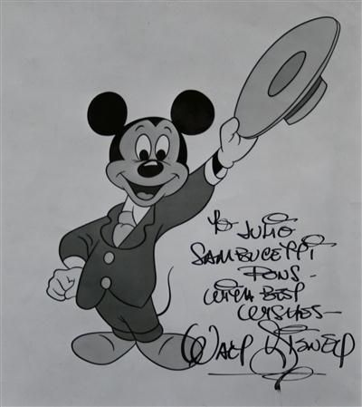 Walt Disney Autograph on Picture of Mickey Mouse. $4,620 (GBP 2,950 ...
