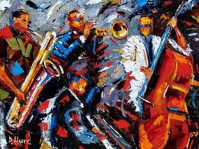 Abstract Jazz By Debra Hurd Rainforest Jazz Painting