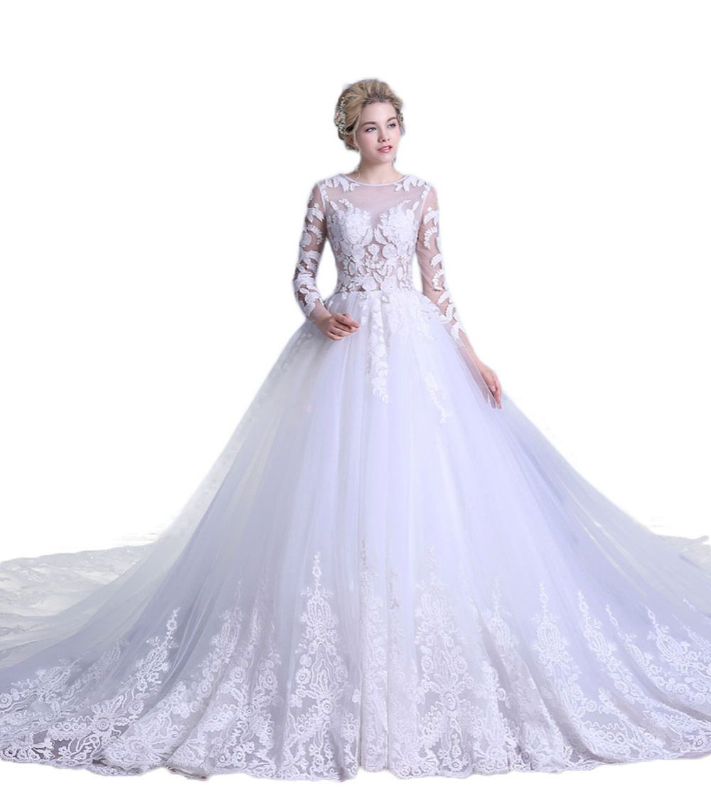 Park Art|My WordPress Blog_Beige Wedding Dress With Sleeves