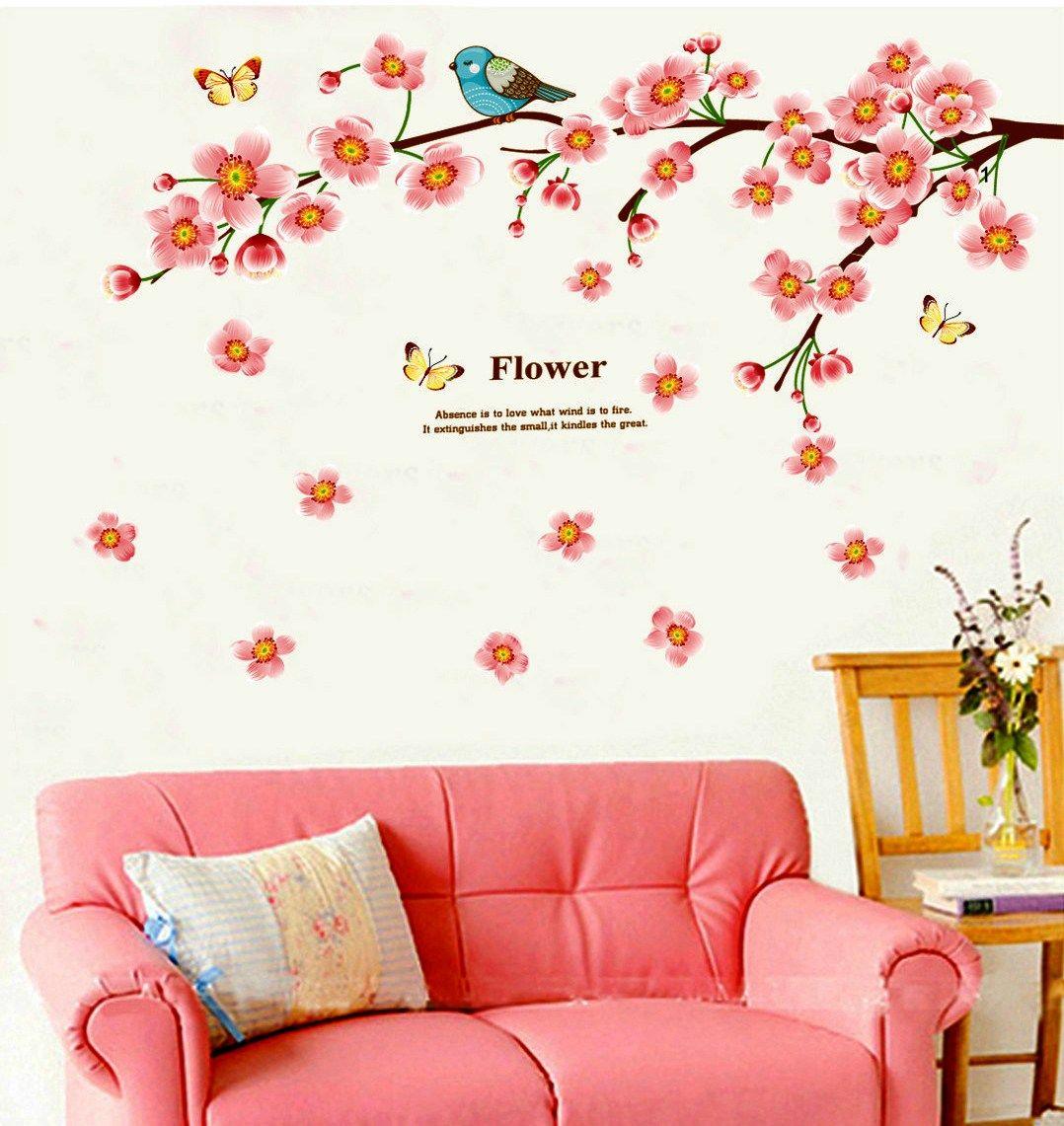 Wall Decor Stickers Peach Flower Wall Stickers Jm7296 Wall