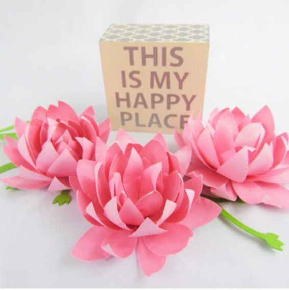 Catchingcolorflies shared a new photo on flower tutorials learn to diy these pretty paper lotus flowers mightylinksfo