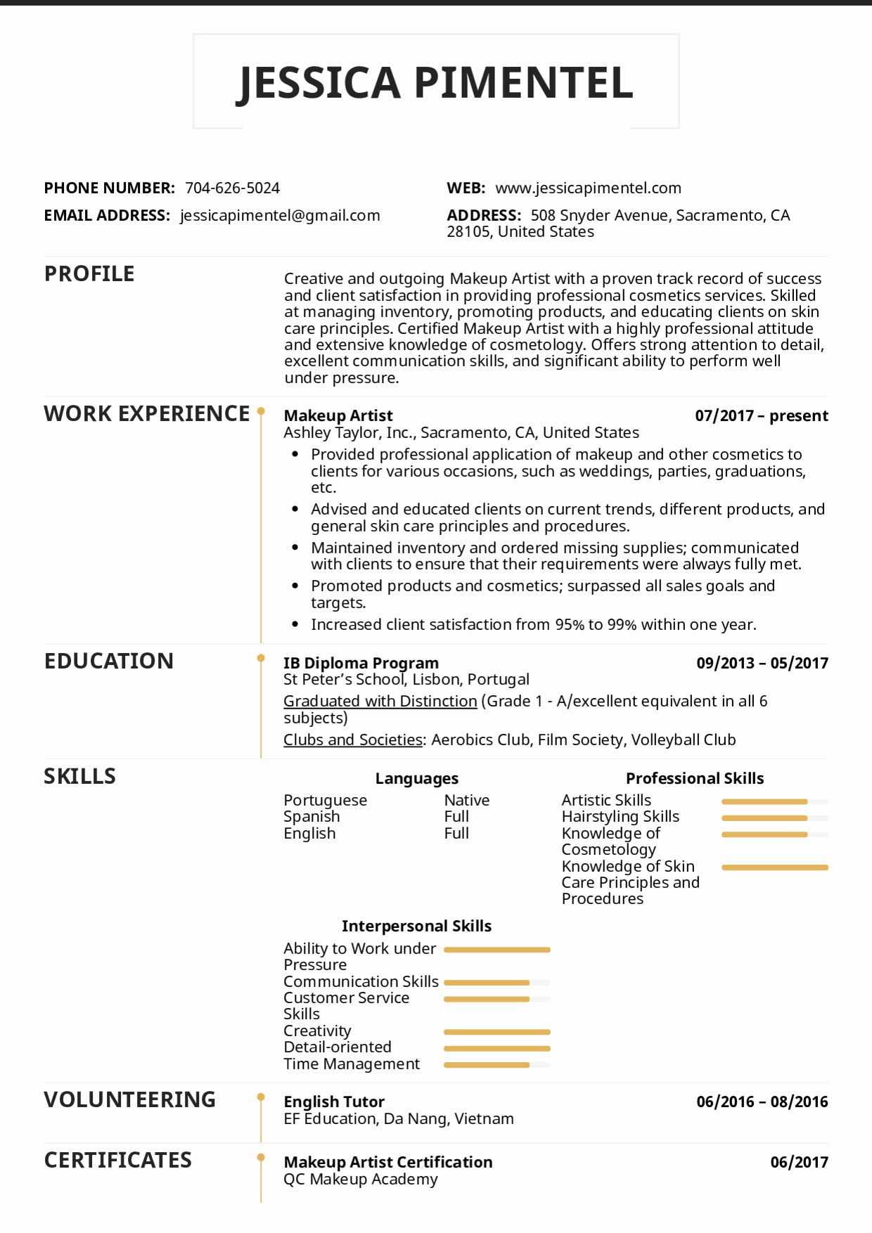 Makeup Artist Resume Examples Awesome Resume Examples by