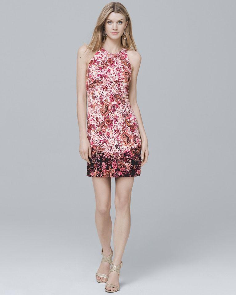 326a1fd7115 Women s Halter Paisley Knit Shift Dress by White House Black Market ...