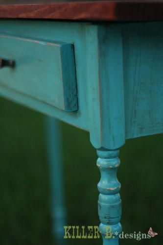 How to get that beautiful turquoise with chocolate glaze finish!  Free step by step tutorial.