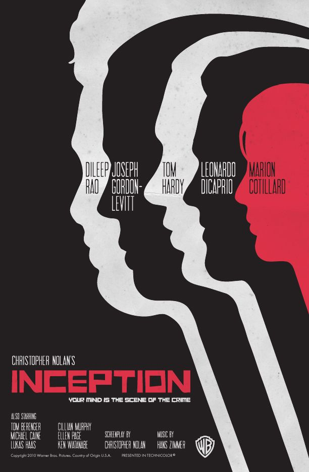Fanart Inception Saul Bass Style 2 Movie Poster Art