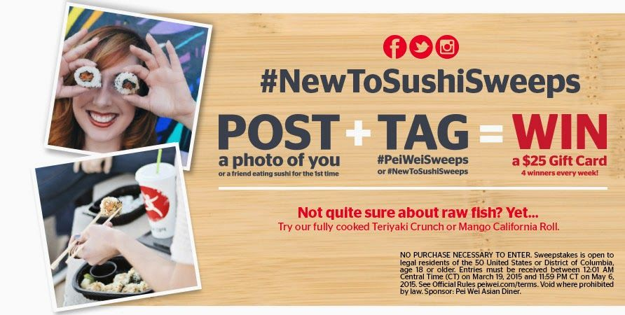 Enter For a Chance to Win a $25 Pei Wei Gift Card in The New To ...