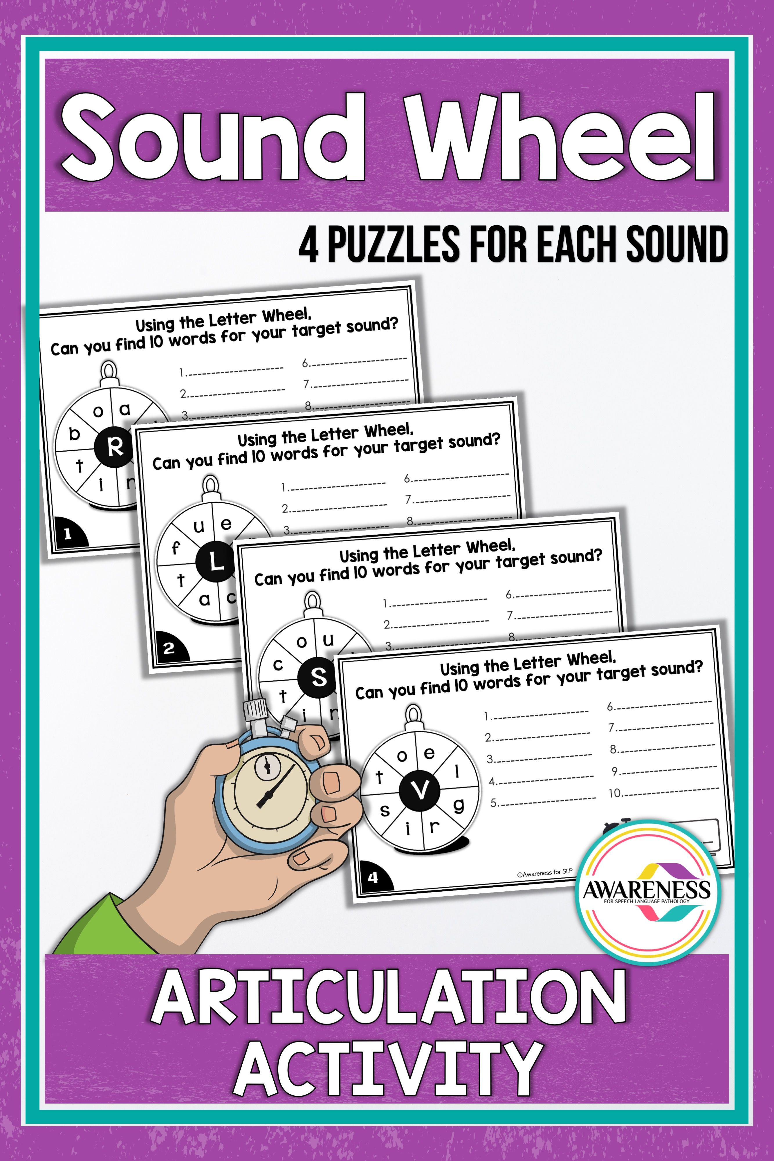 Articulation Activity Sound Wheel