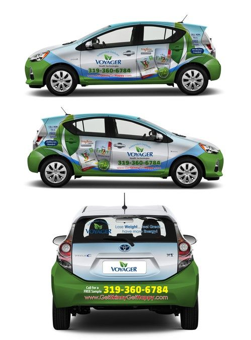 Amazing Car Wrap for Health Supplement Company by kikodesigns