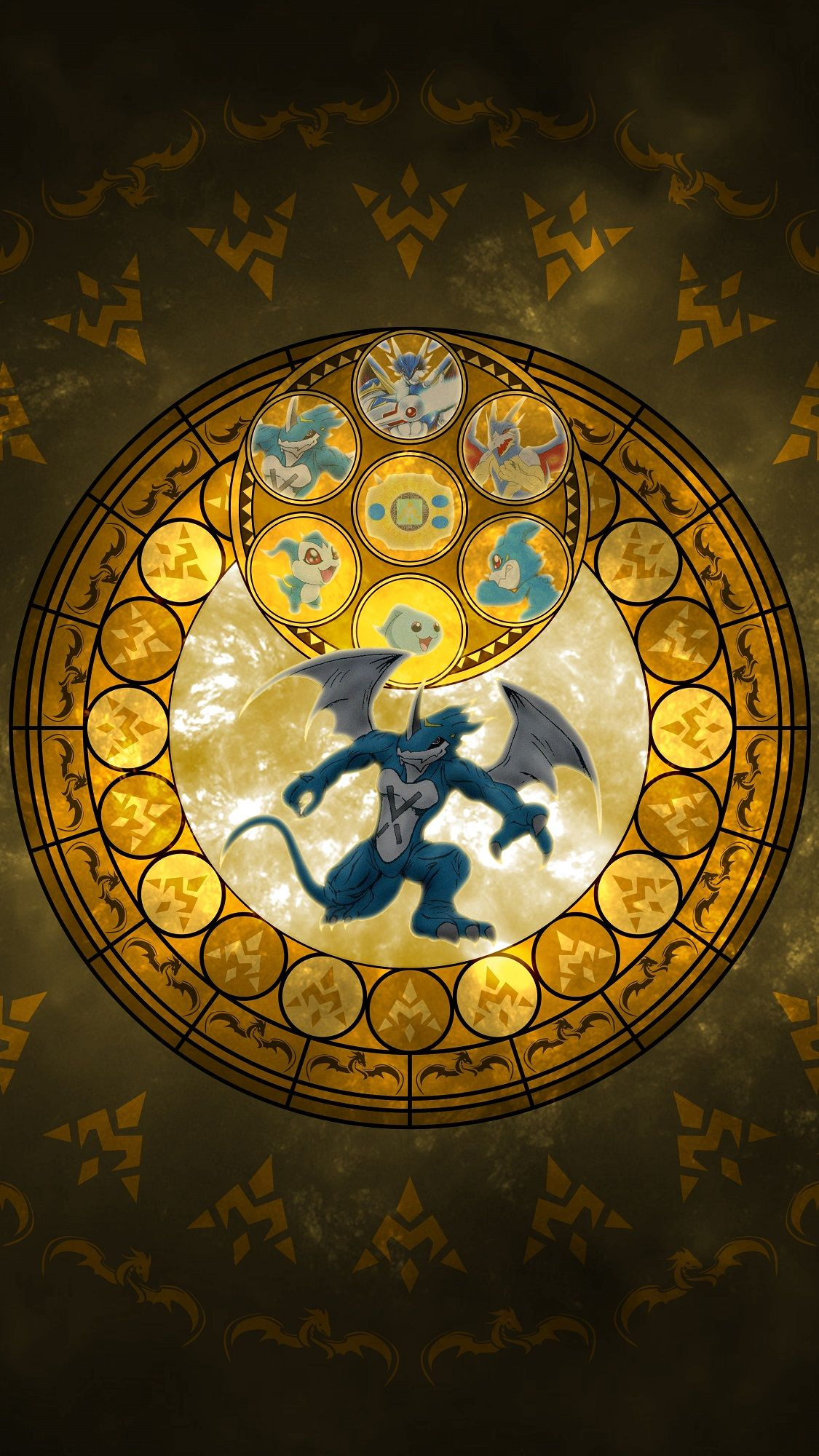 XV-mon Evolution Line - Kingdom Hearts - Crest of Miracle ...