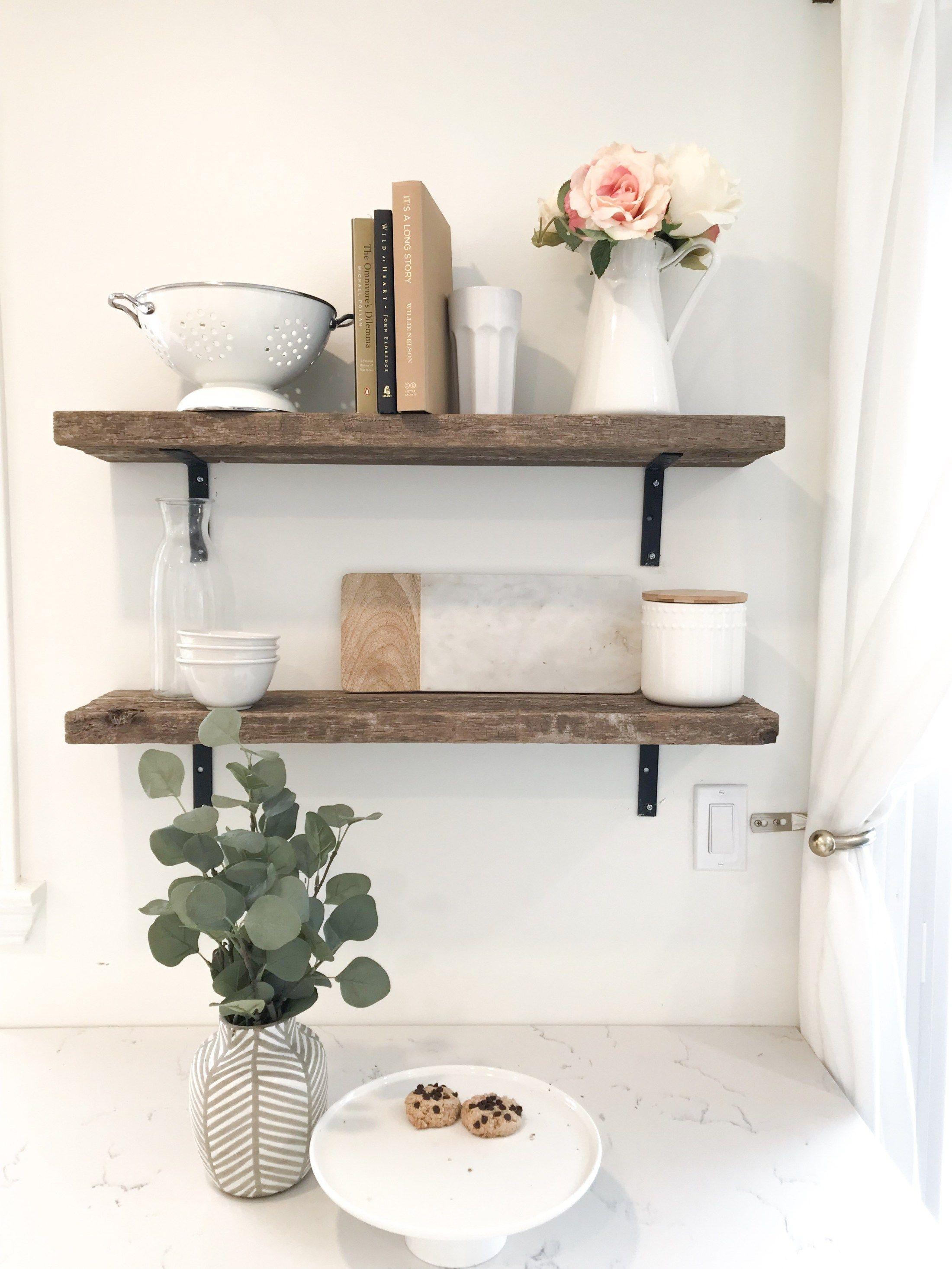 diy rustic open farmhouse shelves with images kitchen wall decor bohemian style kitchen on farmhouse kitchen shelf decor id=78169