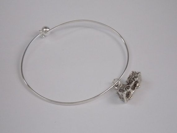 Silver Fire Truck Bangle by treasuredheros1 on Etsy, $15.00