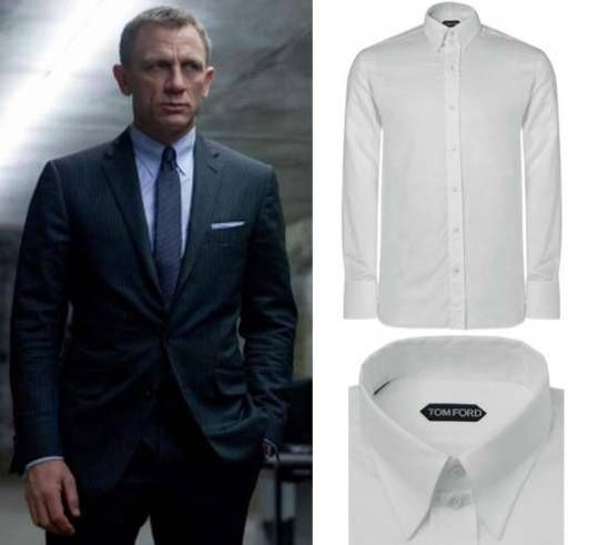 James Bond S Tom Ford Collar Shirt From Skyfall With Images