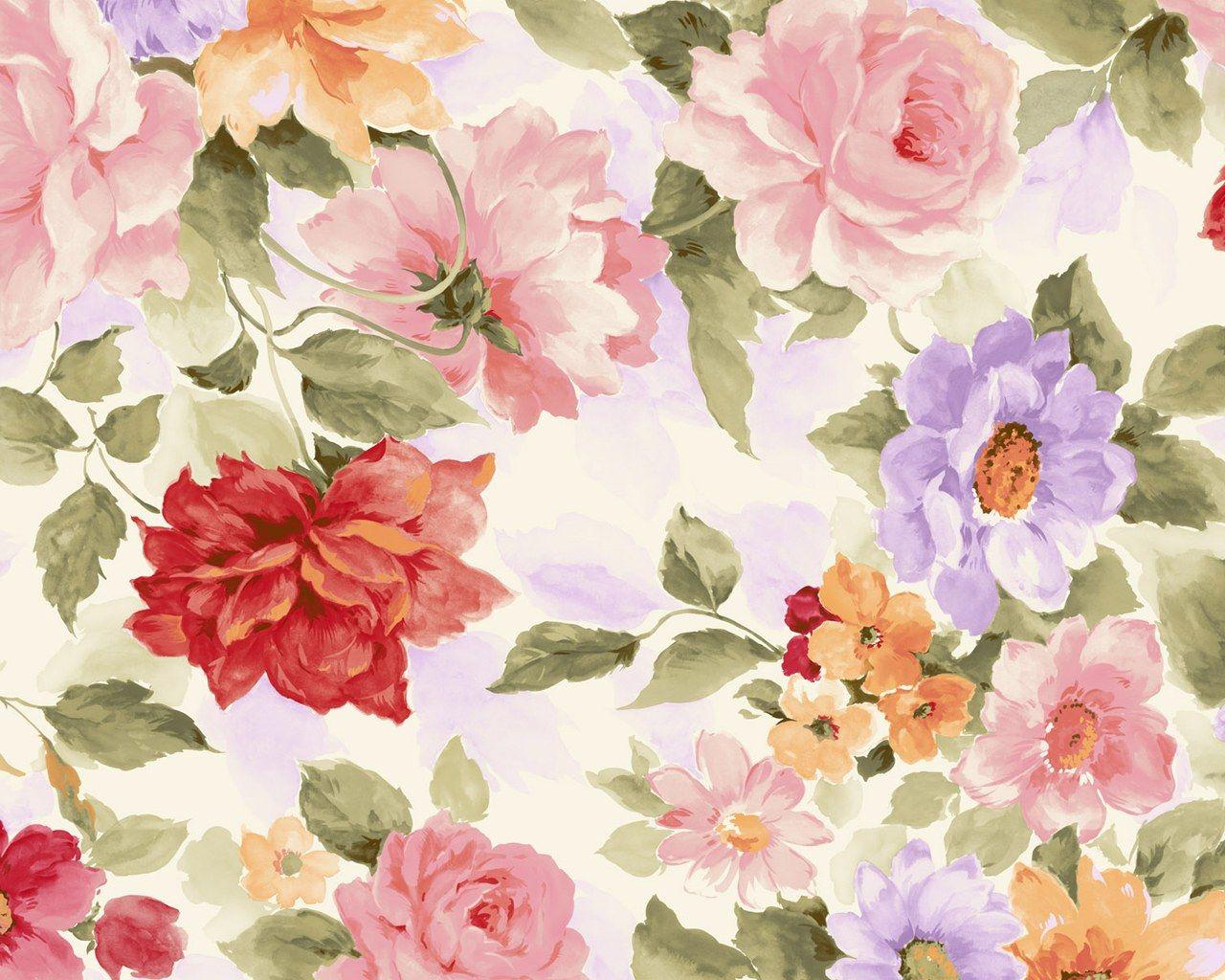 Vintage Flowers Pattern Wallpapers Hd Vintage Flowers Wallpaper Watercolor Flowers Paintings Flower Painting