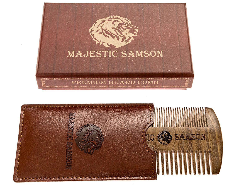 PRIME Beard Comb By Majestic Samson - Wooden Beard Mustache