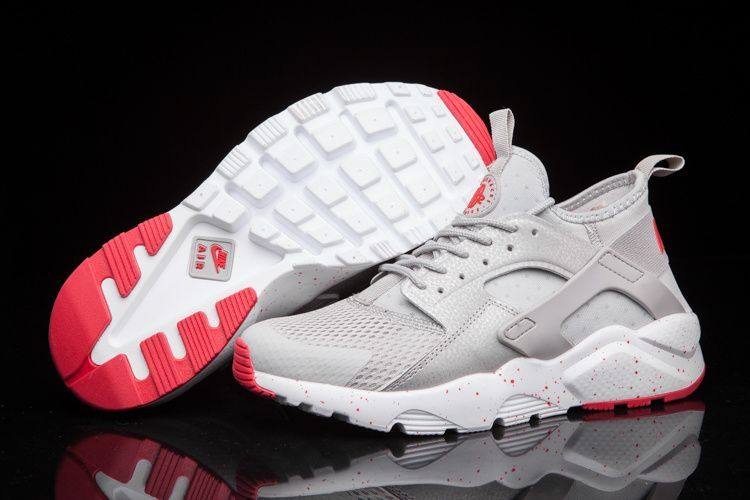 Nike Air Huarache Ultra Run Br Gris Rouge Homme via nike air huarache.  Click on