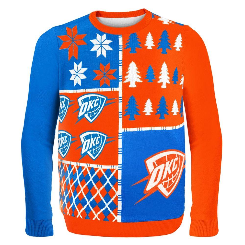 91f512e91 Oklahoma City Thunder - Busy Block Ugly Christmas Sweater