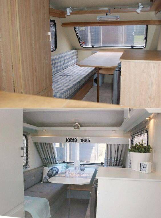 Camper interieur voor en na de aanpassingen | Camper ideas ...