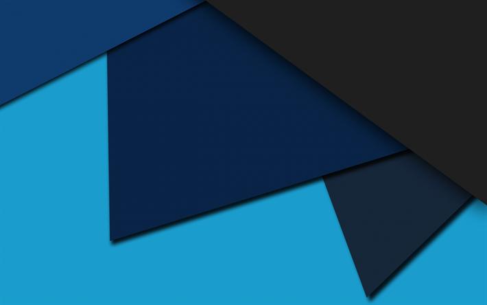 Descargar Fondos De Pantalla Azul, Gris, Abstracción
