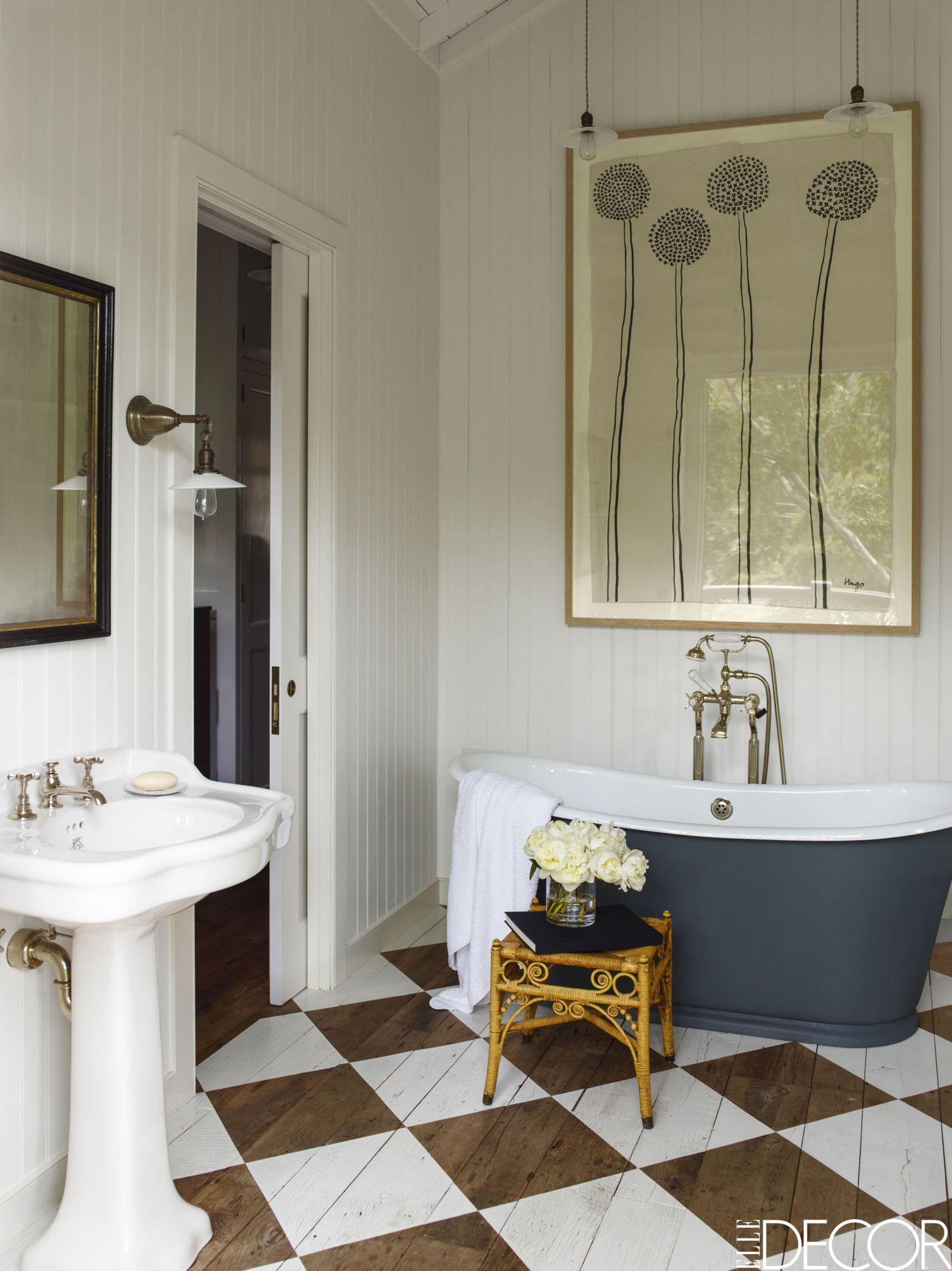 Rustic Checkerboard Bathroom Elledecor Com Simple Bathroom Designs Best Bathroom Designs Bathroom Design Small Elle decor best bathrooms