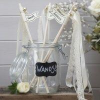 10 x #Vintage White Lace #Wedding Wands