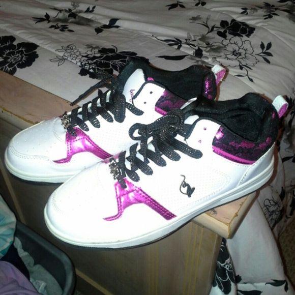 White Black Pink Baby Phat Sneakers Baby Phat Shoes Baby Phat Phat