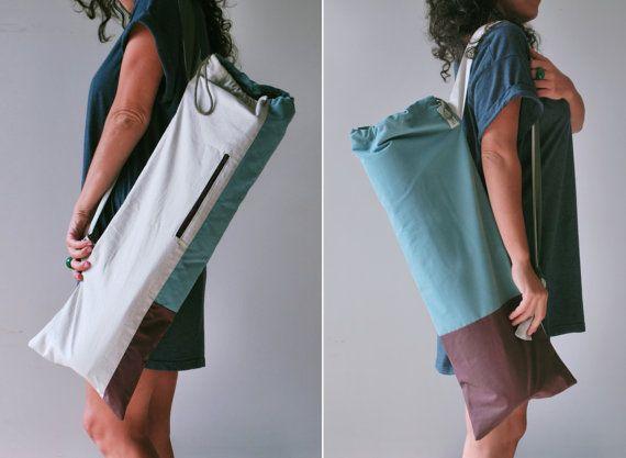 Yoga Mat Bag Minimal Pilates Mat Bag Soft Cotton Yoga Tote Stylish Yoga Sling Mat Carrier Chic Sports Bag Zipper Pocket Yoga Gift Bolsa De Estera De Yoga Moda Del Yoga