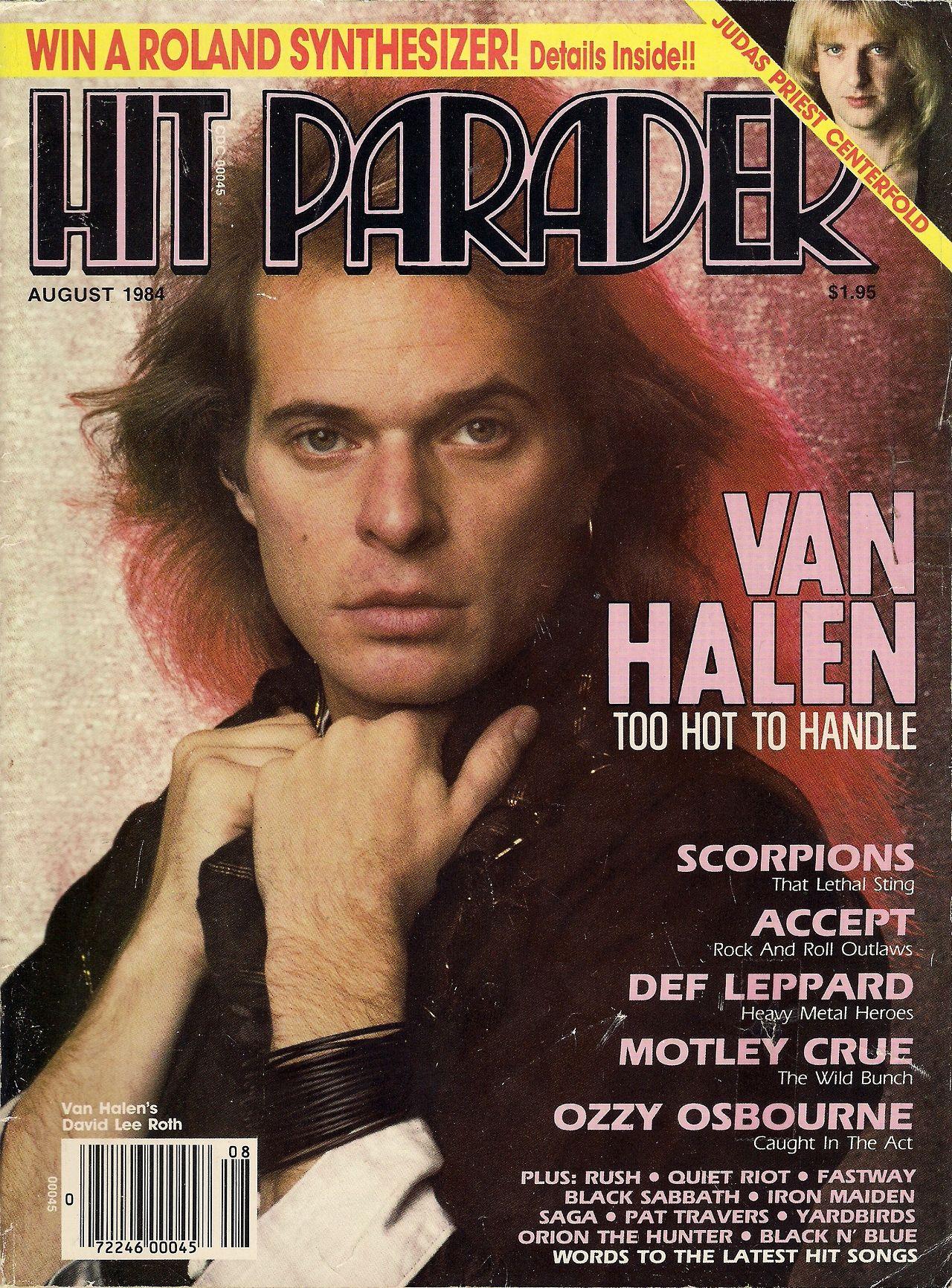 David Lee Roth Graces The Cover Of Hit Parader Magazine 1984 Van Halen David Lee Roth Hard Rock