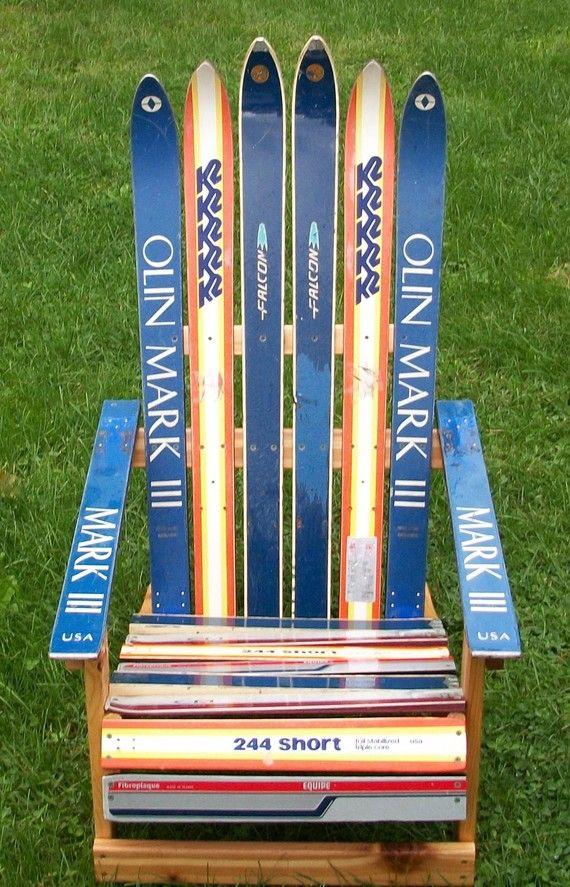 Adirondack Ski Chair By Maineskichairs On Etsy Snow Skiing
