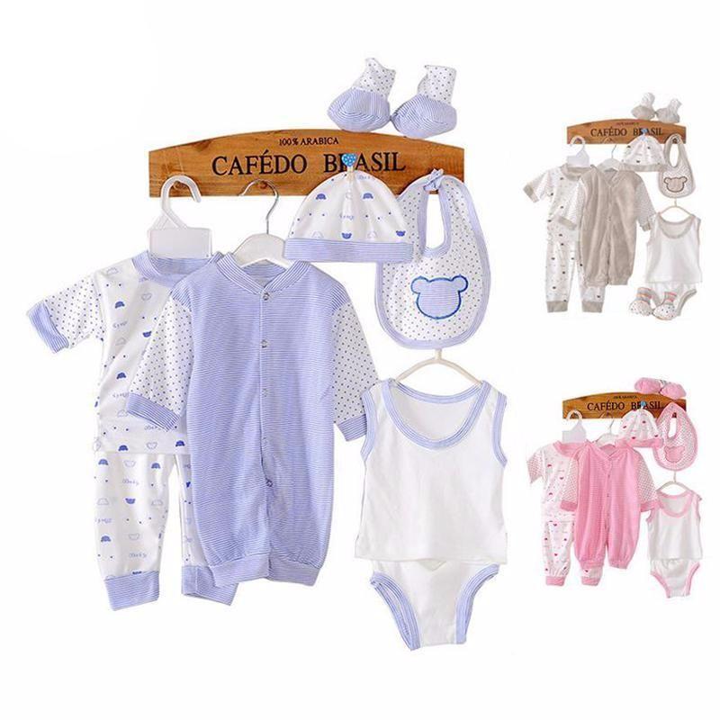18pcs//set  Newborn Baby Clothes Girls Boys Clothing Set Cute infant Outfits Suit