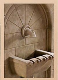 Monterosso Wall Fountain With Concrete Spout 1620c Outdoor Wall Fountains Wall Fountain Fountain