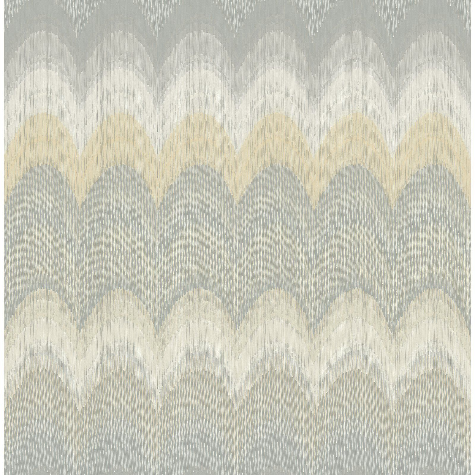 James Azmaara August Wave Wallpaper Yellow / Gray