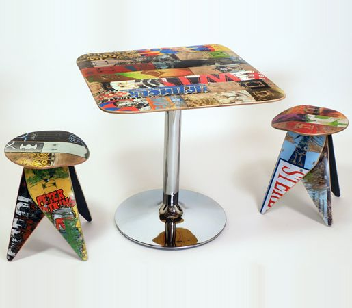 Skatecafe   Recycled Skateboard Tables