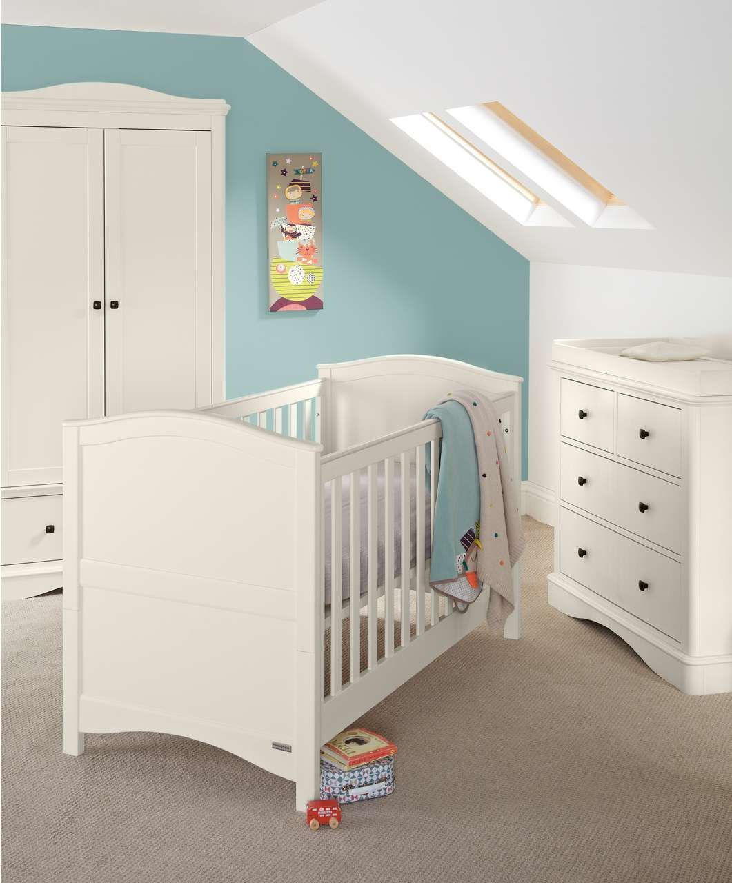 Our Nursery Furniture Ashford 3 Piece Set White