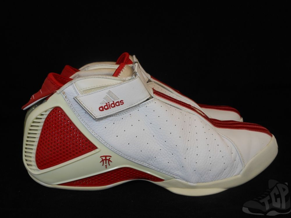 Vtg OG 2004 Adidas T Mac IV 4 s sz 12 Lace Less System RARE Tracy McGrady Home #adidas #AthleticSneakers #tcpkickz