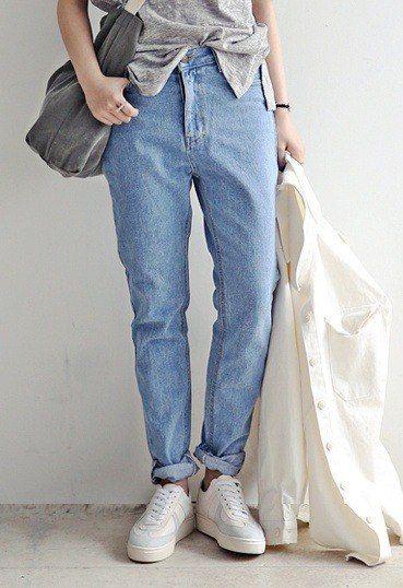 42ed91c0 Женские джинсы-бананы (87 фото): с чем носить, с высокой талией, где купить