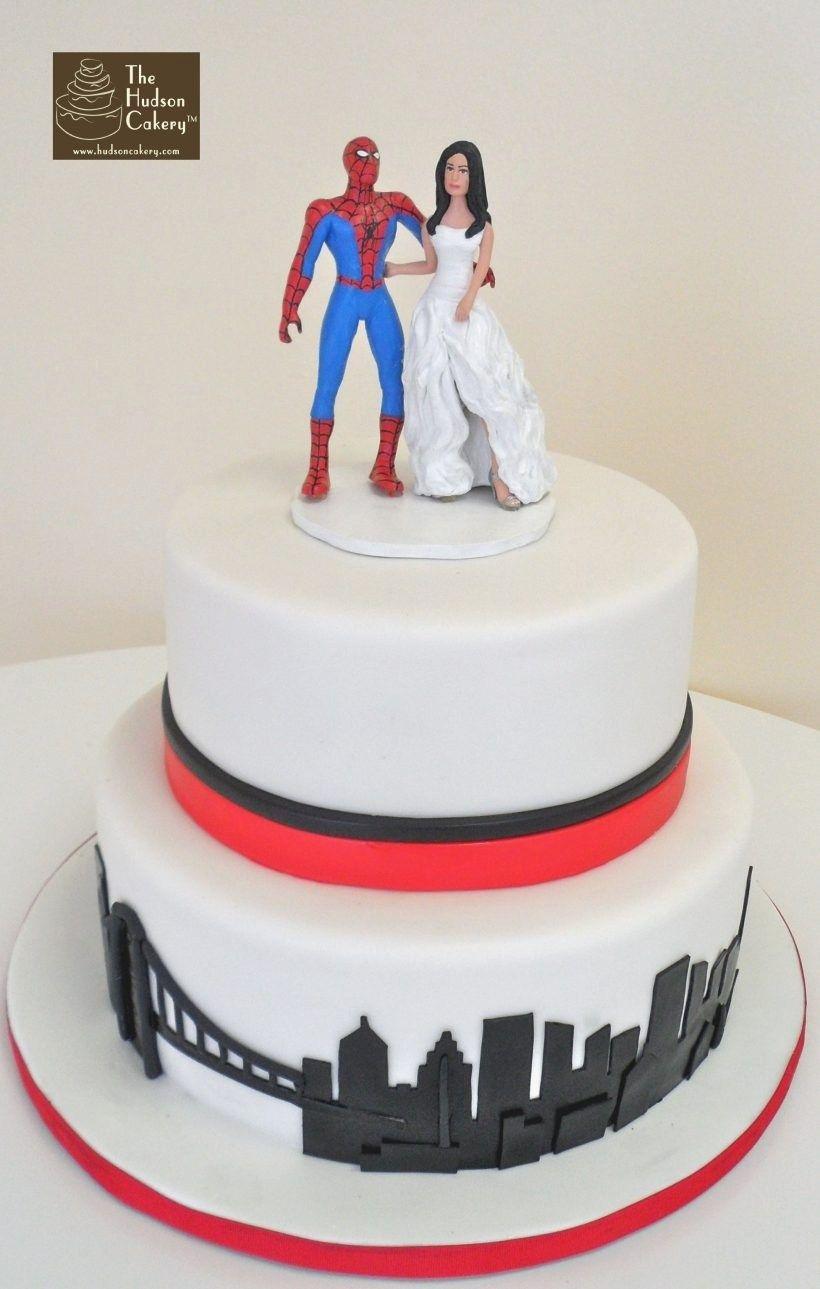 Spiderman Wedding Cake Topper Superhero Wedding Cake Funny
