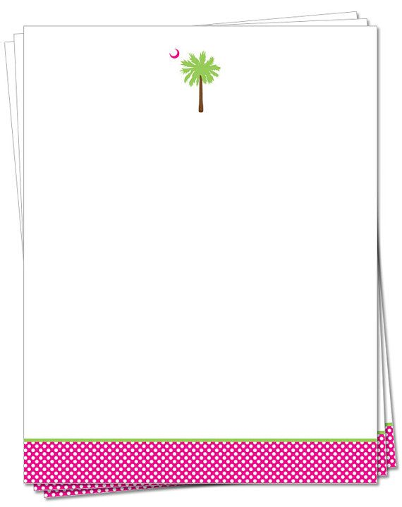 South Carolina Palmetto Moon Notecards Polka Dots by palmettomama, $12.00
