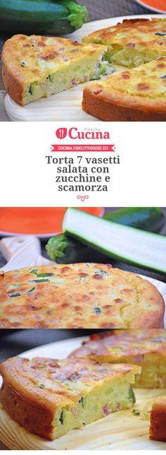 #Torta 7 vasetti salata con #zucchine e #scamorza
