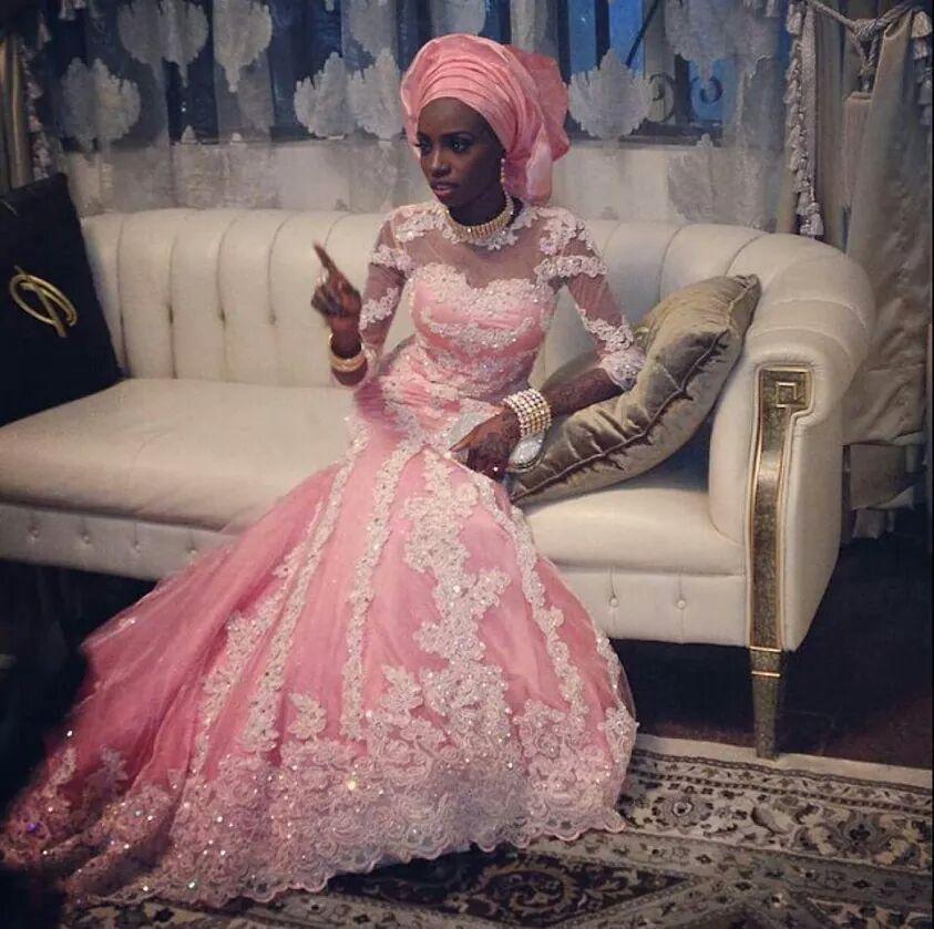 Nigerian bride in pink. | Lindo