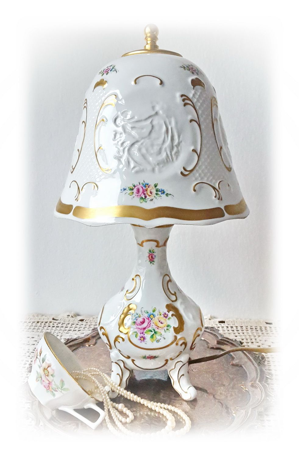 The Lamp With The Lithophane Was Made By German Manufacture Lindner