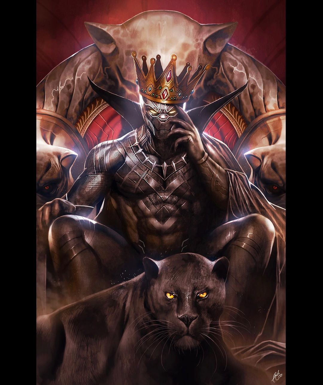 Christian G Wizyakuza Art On Instagram 2020 Is The Worst Rip To An Incredible Actor And The Black Pant In 2020 Black Panther Art Panther Art Black Panther Marvel