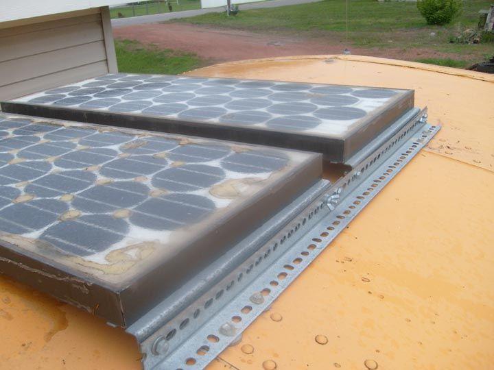 Mounting Securing Solar Panels On Roof Skoolie Net Solar Panels Roof Solar Panels Solar