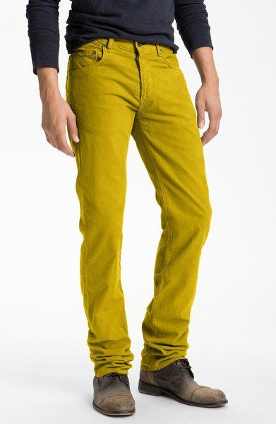 On Clearance exceptional range of styles a great variety of models Rag & Bone Corduroy Pants in Yellow for Men (mustard yellow ...