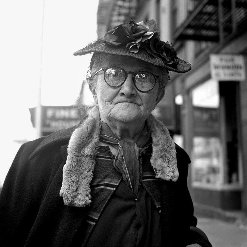 Vivian Maier  Great photographies of New York  Fashion Grandma  http://www.vivianmaier.com   September, 1956, New York, NY