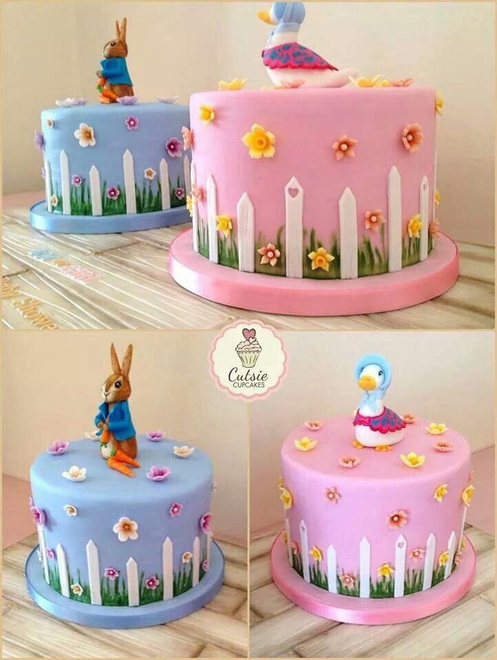 Tarta Beatrix Potter Cutsie Cupcakes Bolos para criancas